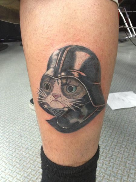 star wars, grumpy cat, tattoo, meme, darth vader