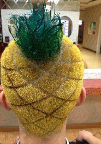 hair, pineapple, wtf, fail