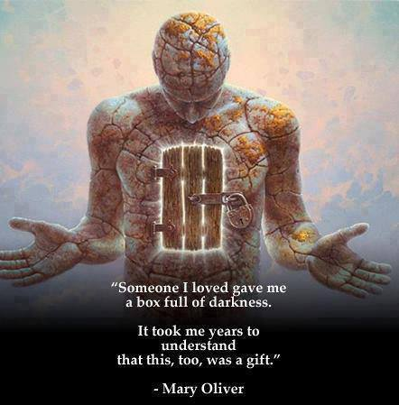life, gift, box of darkness, quote, mary oliver