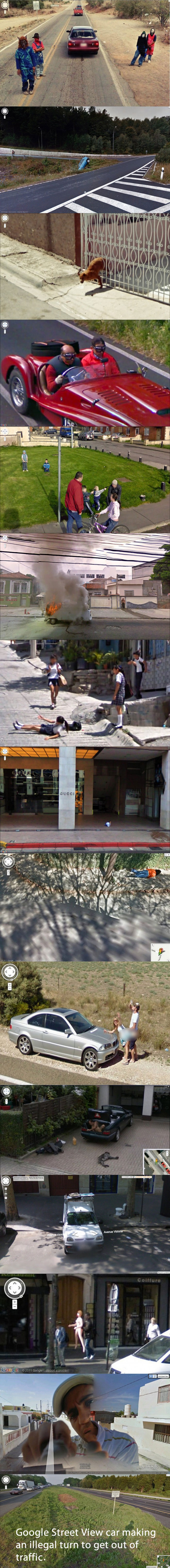 google street view, wtf, caught