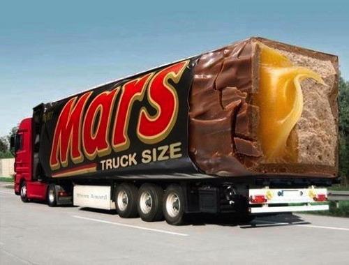 mars bar, truck size, paint, win