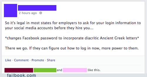 facebook, job interview, credentials, troll