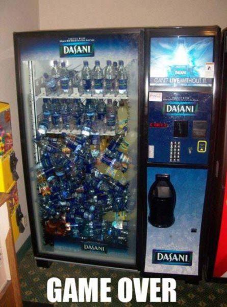 vending machine, drinks, game over, lol, meme