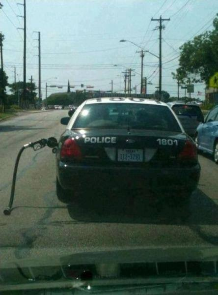 cop, police, fail, gas pump