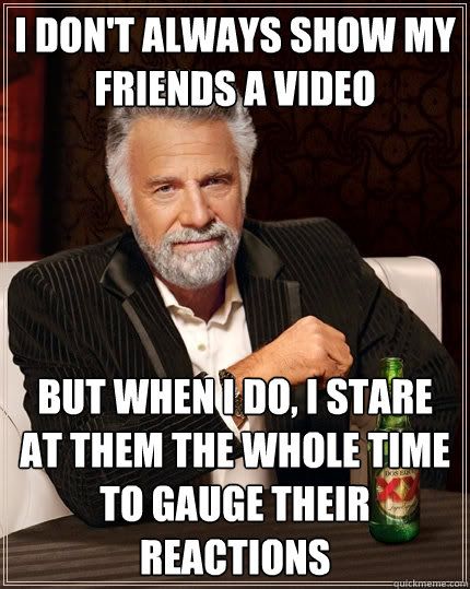 most interesting man, meme, video, stare, reaction gauge