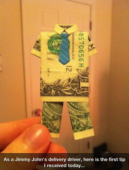 money, tip, art, origami