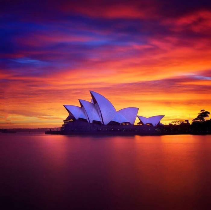 sydney, australia, sun set, beautiful