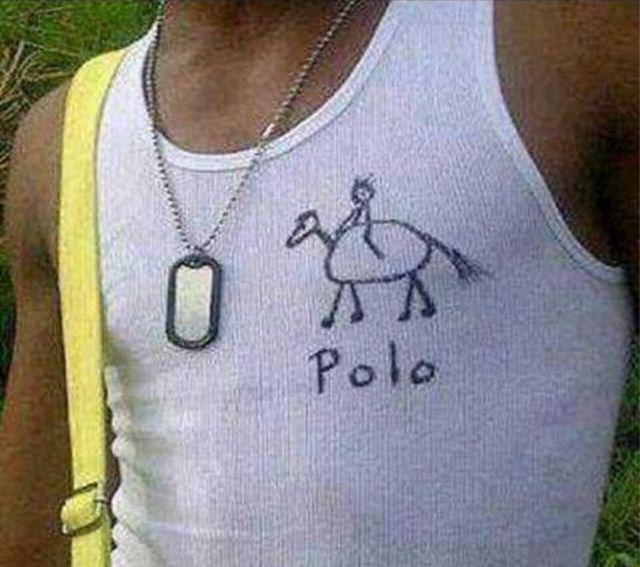 beater, tank top, under shirt, polo, seems legit