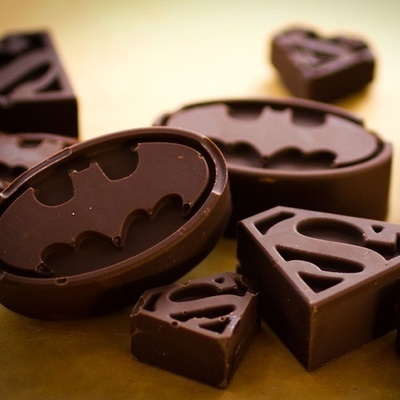 chocolate, super hero logo mould