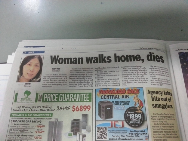 wtf, escalated quickly, newspaper, walk, death