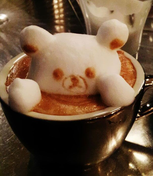 Coffee foam art photo