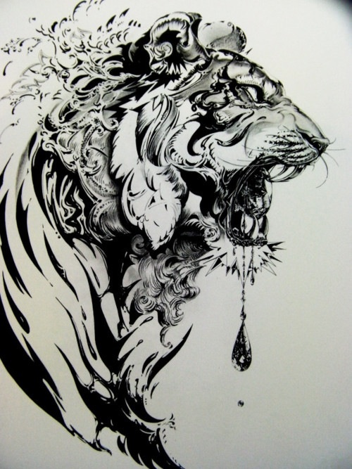tattoo, art, tiger