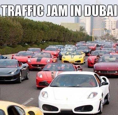 dubai, meme, traffic jam
