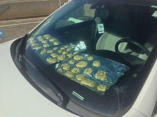 cookies, car, heat, windshield,lol