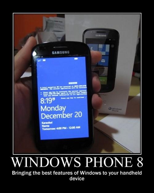 windows phone, blue screen of death, bsod, motivation