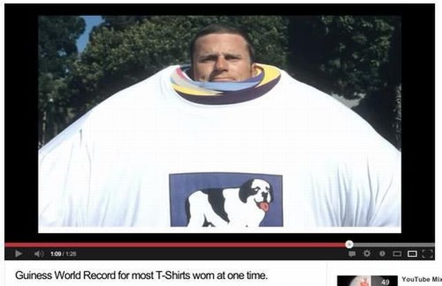 guinness world record, most tshirts worn at once