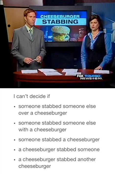 cheeseburger stabbing, wtf, news