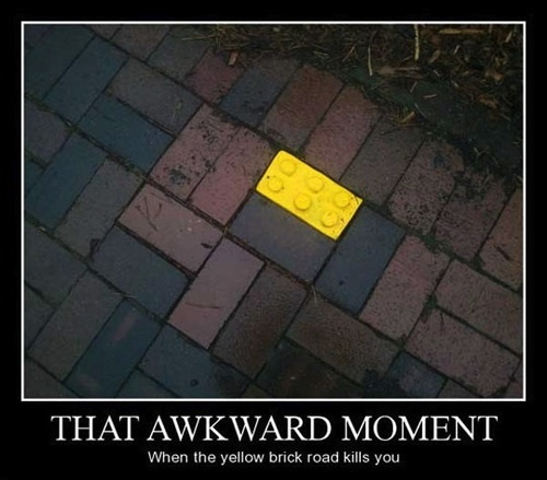 that awkward moment when the yellow brick road, motivation, lego