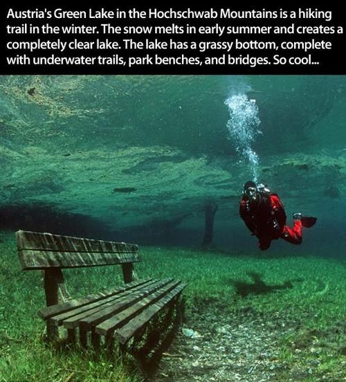 austria, geen lake, snow melt, clear, cool, nature