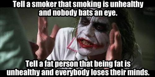 fat, smoking, healthy, the joker, loses their minds, meme