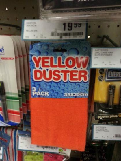 product, name, fail, yellow, orange