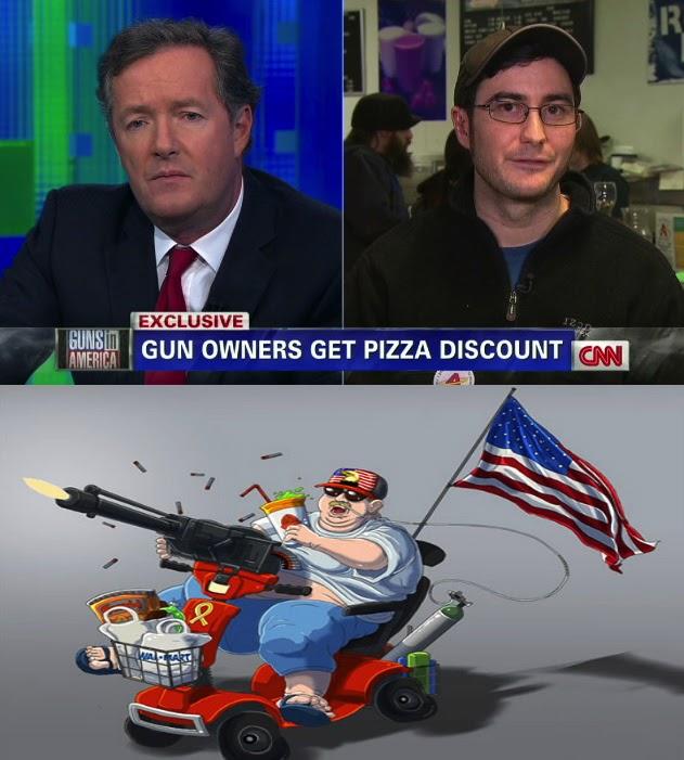 cnn, pizza, discount, gun owners, 'murica