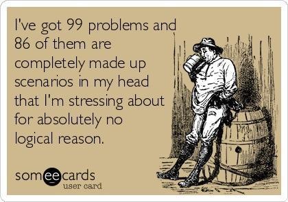 ecard, 99 problems, made up, stress