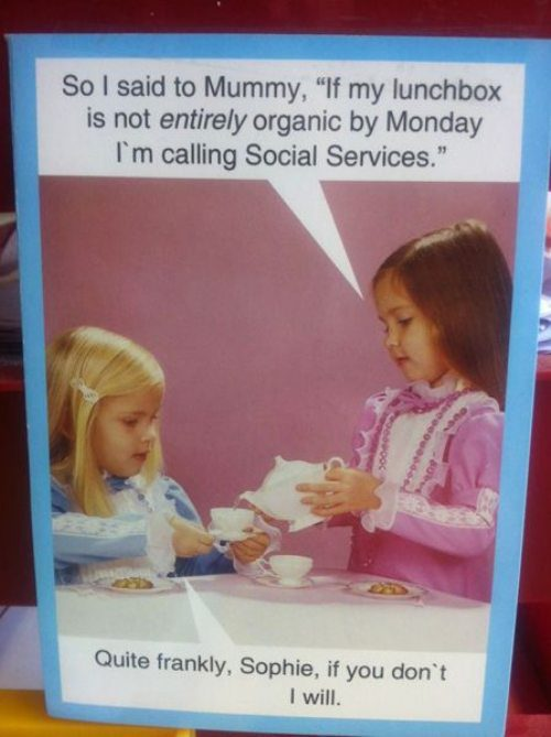 kids, tea party, organic lunch, social services