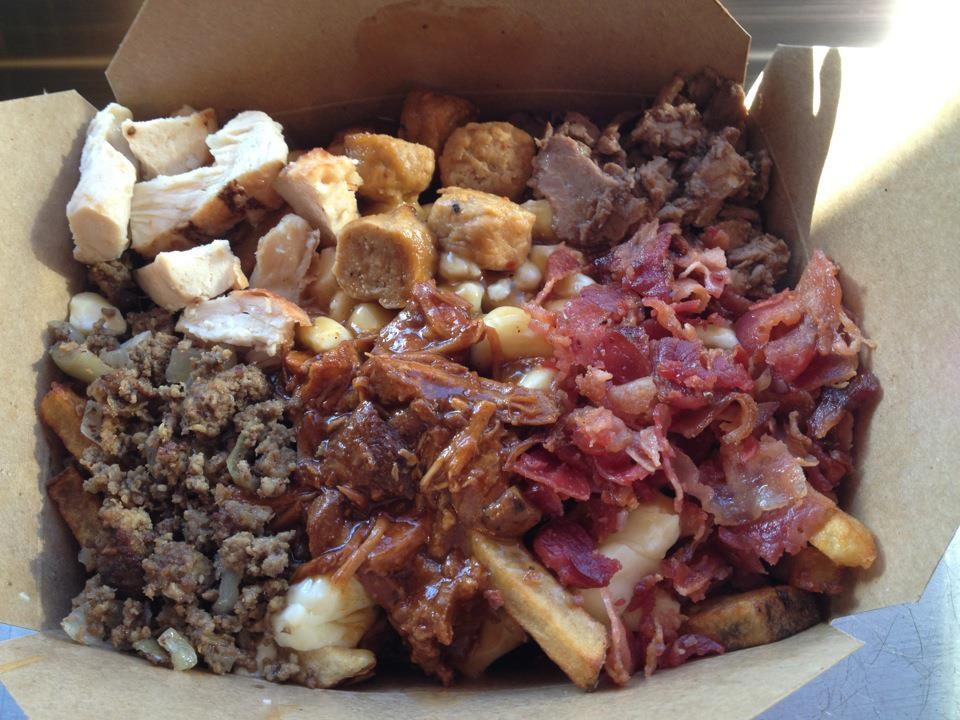 food, the slaughterhouse poutine, delicious, meat, food