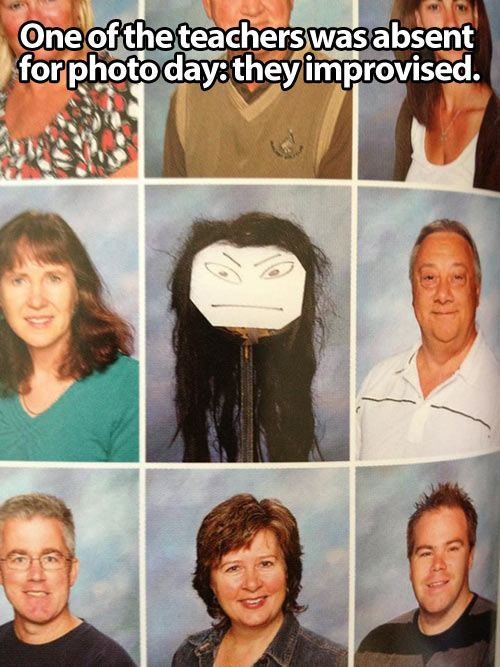 teacher, photo day, absent, story, lol