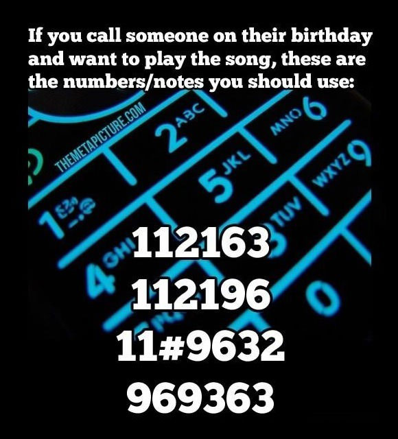 music, telephone, tone, numbers, code, happy birthday song, how to, dyk