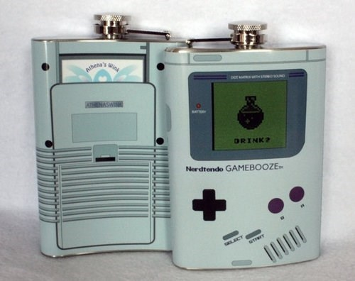 game boy, flask, product, win, gamebooze