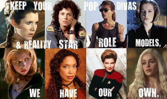 female role leads, role models, pop divas, meme