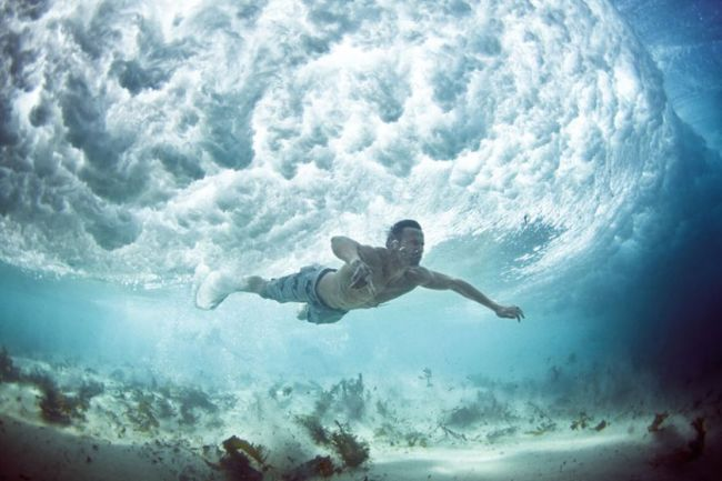 under water, waves, cool, nature, ocean