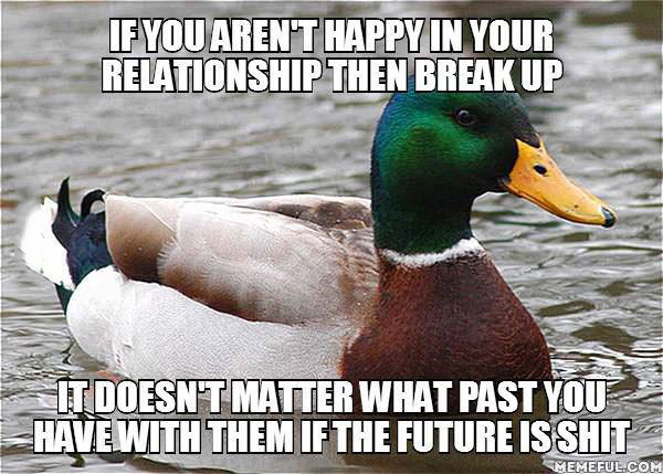 actual advice mallard, meme, relationship, future