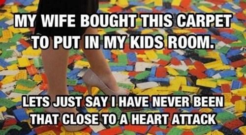carpet, legos, story, heart attack, kids room