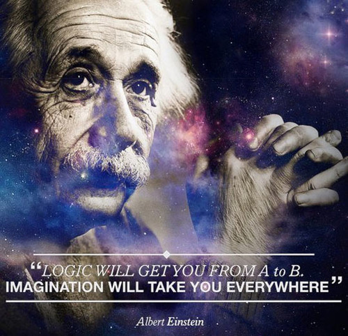 albert einstein, quote, imagination, logic