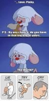 pinky and the brain, cartoon, santa, list, the world, evil