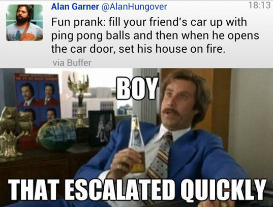 twtitter, meme, boy that escalated quickly, alan garner, set house on fire, wtf