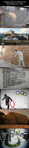 street art, 7 pieces, make you think, compilation