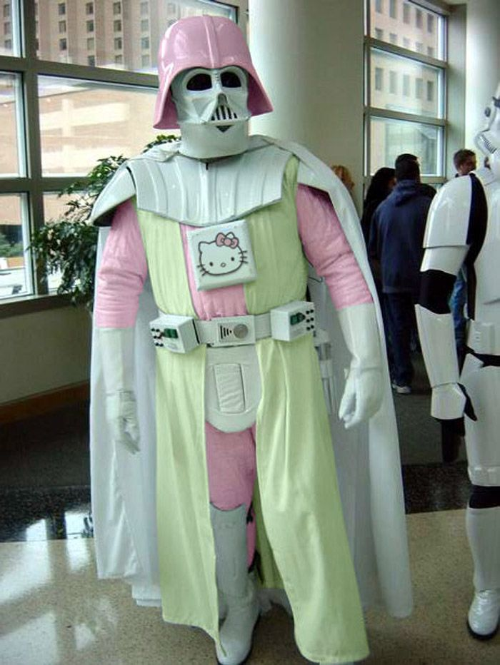 darth kitty, hello vader, star wars, costume, mashup