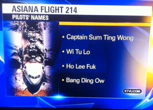 news, fail, asian pilot name, lol