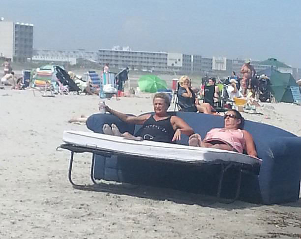 beach, couch bed, pull out, wtf, 'murica