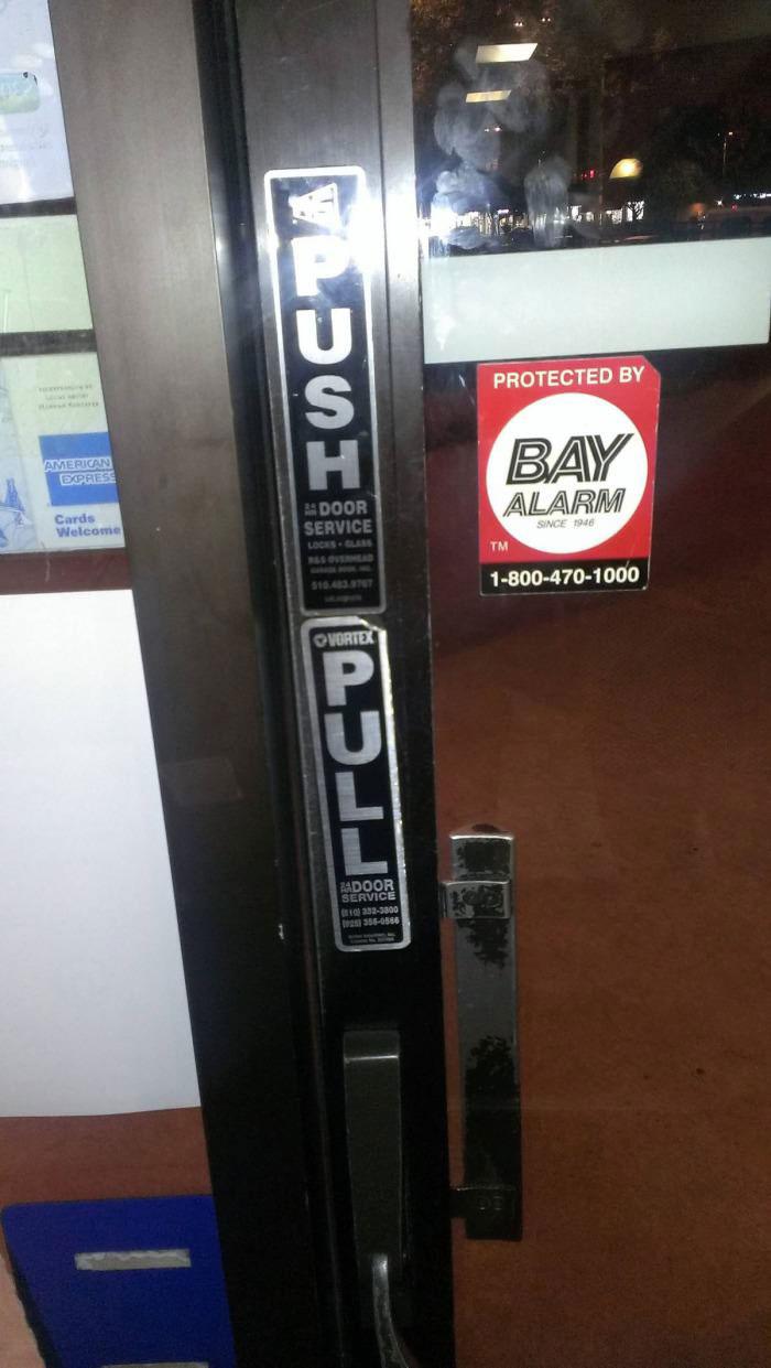push, pull, contradiction, door, wtf, fail