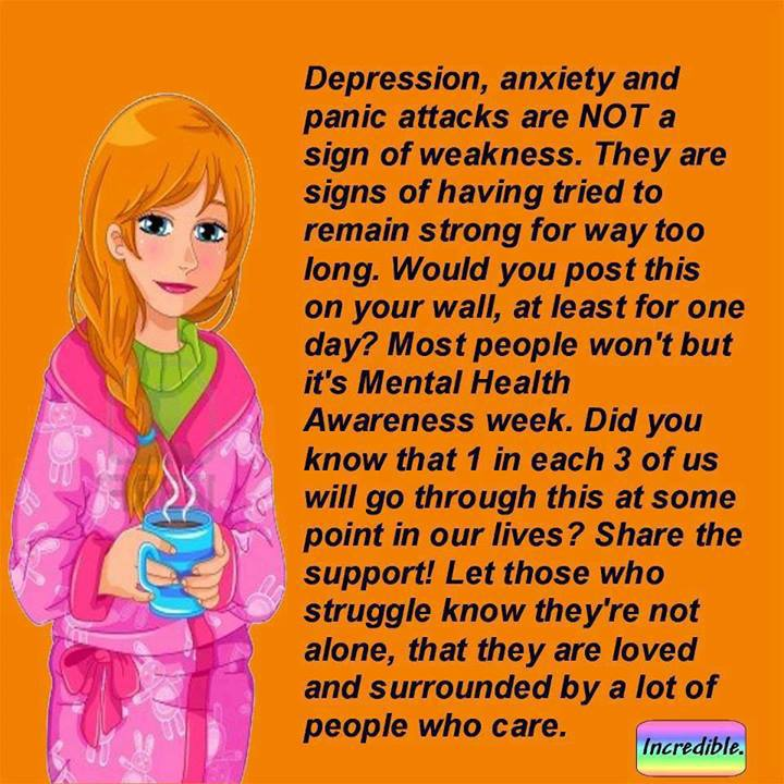 depression, anxiety, panic attacks, mental health week