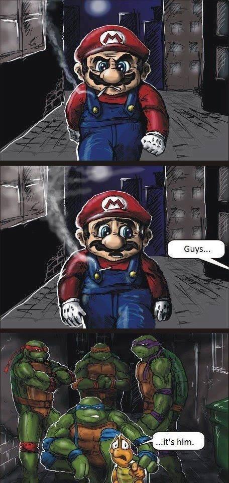 mario, tmnt, sewers, comic