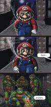 mario, tmnt, sewers, comic