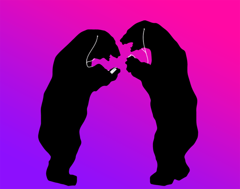 male grizzly bears, ipod, wtf