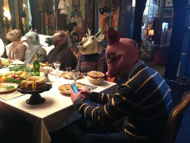 dinner, masks, wtf