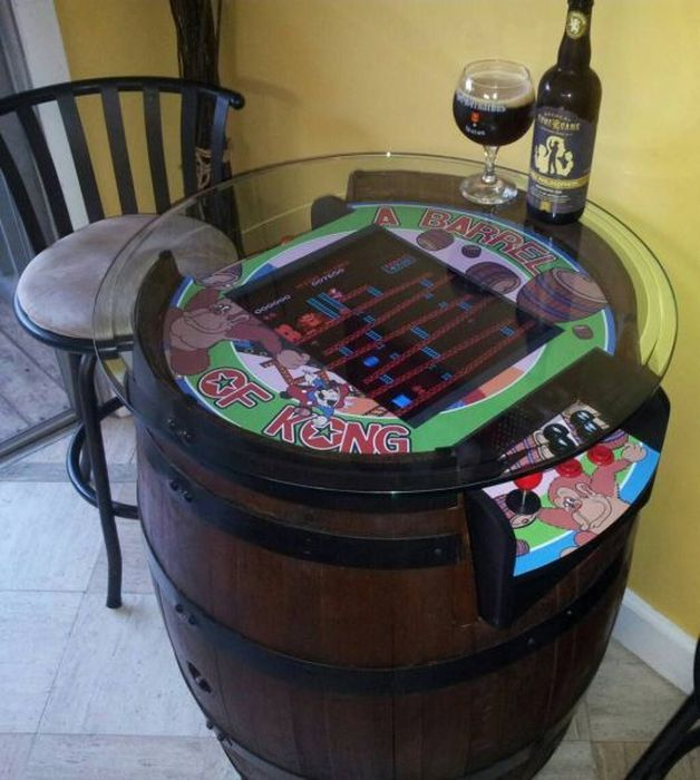 video game, donkey kong, table, win, arcade